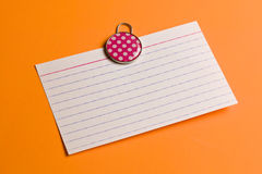 White lined note paper Royalty Free Stock Images