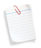 White lined paper. On white background (with clipping path Royalty Free Stock Photos