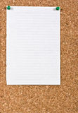 White lined paper Stock Photos