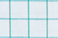 White linen checkered texture background Royalty Free Stock Photography