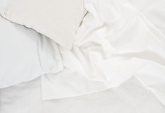White linen cloth Royalty Free Stock Images
