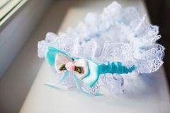A white linen garter Stock Images