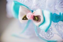 A white linen garter Royalty Free Stock Photography