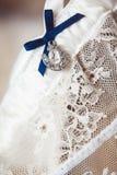 A white linen garter Royalty Free Stock Photo