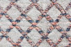 White linen texture with diamond pattern Royalty Free Stock Photo