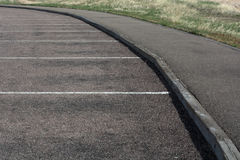 White lines on Asphalt parking lot Royalty Free Stock Photos