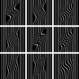 White lines on black background. Royalty Free Stock Photography