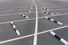 White lines / Empty parking lot Stock Photo