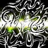 White lines graffiti pattern on a color background vector illustration. (vector eps 10 vector illustration