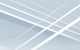 White lines over blue shadows, 3d illustration Stock Images