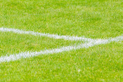 White lines on sport field Royalty Free Stock Photography