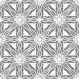 White lines with wavy triangles detailed seamless Royalty Free Stock Image