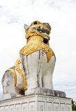 White lion sculptures Stock Photo