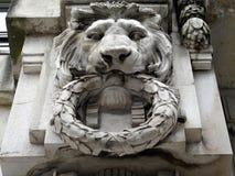 White Lion Statue stock photo