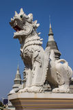 White Lion Statue in Wat Banden, Chiangmai Thailand Stock Photos