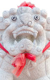 White lion statues. Royalty Free Stock Image
