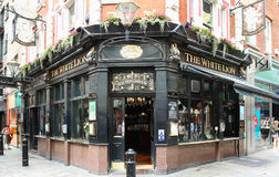 The White Lion is a traditional English pub in Covent Garden, London, on the corner of James Street and Floral Street.