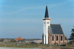 Church at the Dutch island Texel Royalty Free Stock Image