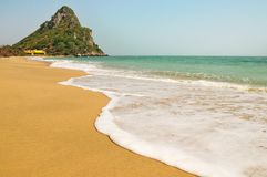 White little wave. Swash to the beach Stock Photography