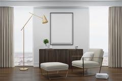 White living room, white armchair Stock Image