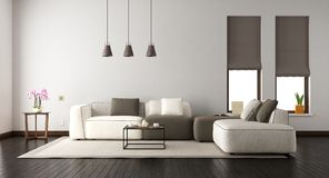 White living room with elegant sofa Royalty Free Stock Photo