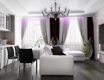 White living room interior Stock Images