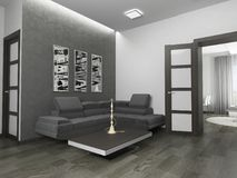 White living room interior Royalty Free Stock Image