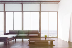 White living room with a window, toned Royalty Free Stock Image