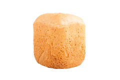 White loaf of homemade bread isolated on white background Royalty Free Stock Photos
