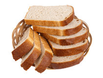 White loaf slices royalty free stock photos