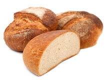 White loafs stock photos