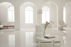 White lobby louge of music studio Royalty Free Stock Images
