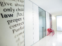 White lobby. Lobby outside the new office Royalty Free Stock Image