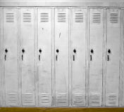 White Lockers Stock Photo
