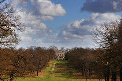 White Lodge in Richmond Park. With Cloudy sky royalty free stock image