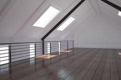 White loft area Stock Photos