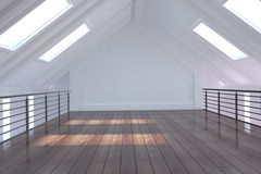 White loft area Stock Photo
