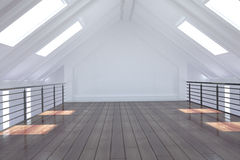 White loft area Royalty Free Stock Photos
