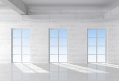 White loft Royalty Free Stock Images