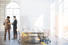 White loft meeting room interior, people Stock Photography