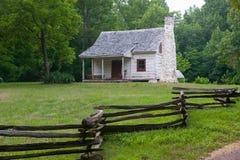 White log cabin Stock Images