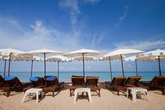 White long beach, Phuket South Thailand Royalty Free Stock Photo