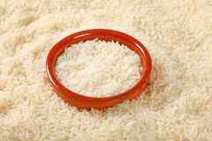 White long grained rice Stock Photo