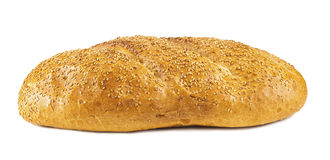 White long loaf with sesame Stock Photography