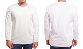 White Long Sleeved Shirt Design Template Stock Photography