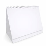 White loose-leaf calendar Stock Image
