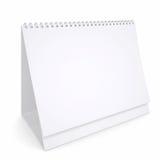 White loose-leaf calendar. Render on a white background Stock Image