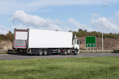 White Lorry - road transport Royalty Free Stock Image
