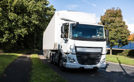 White lorry on th road Stock Images