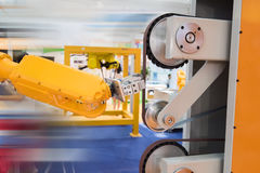 Robotic arm at production line  Stock Photo